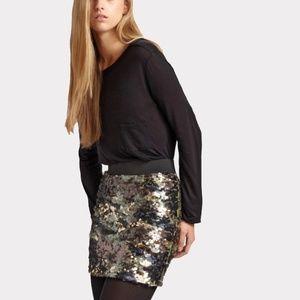 LAROK Sequins Camo Mini Skirt size Medium